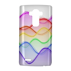 Twizzling Brain Waves Neon Wave Rainbow Color Pink Red Yellow Green Purple Blue LG G4 Hardshell Case