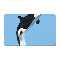Whale Animals Sea Beach Blue Jump Illustrations Magnet (rectangular)