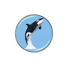 Whale Animals Sea Beach Blue Jump Illustrations Hat Clip Ball Marker (4 pack)