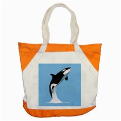 Whale Animals Sea Beach Blue Jump Illustrations Accent Tote Bag