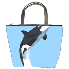 Whale Animals Sea Beach Blue Jump Illustrations Bucket Bags