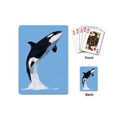 Whale Animals Sea Beach Blue Jump Illustrations Playing Cards (Mini)
