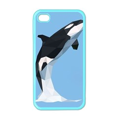 Whale Animals Sea Beach Blue Jump Illustrations Apple iPhone 4 Case (Color)