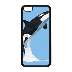 Whale Animals Sea Beach Blue Jump Illustrations Apple iPhone 5C Seamless Case (Black)