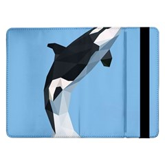 Whale Animals Sea Beach Blue Jump Illustrations Samsung Galaxy Tab Pro 12.2  Flip Case