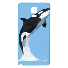 Whale Animals Sea Beach Blue Jump Illustrations Galaxy Note 4 Back Case