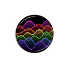Twizzling Brain Waves Neon Wave Rainbow Color Pink Red Yellow Green Purple Blue Black Hat Clip Ball Marker