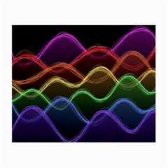 Twizzling Brain Waves Neon Wave Rainbow Color Pink Red Yellow Green Purple Blue Black Small Glasses Cloth