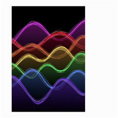 Twizzling Brain Waves Neon Wave Rainbow Color Pink Red Yellow Green Purple Blue Black Small Garden Flag (Two Sides)