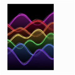 Twizzling Brain Waves Neon Wave Rainbow Color Pink Red Yellow Green Purple Blue Black Large Garden Flag (Two Sides)