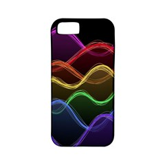 Twizzling Brain Waves Neon Wave Rainbow Color Pink Red Yellow Green Purple Blue Black Apple iPhone 5 Classic Hardshell Case (PC+Silicone)
