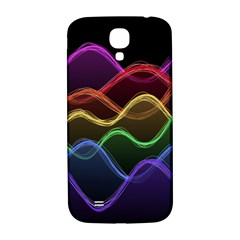 Twizzling Brain Waves Neon Wave Rainbow Color Pink Red Yellow Green Purple Blue Black Samsung Galaxy S4 I9500/I9505  Hardshell Back Case