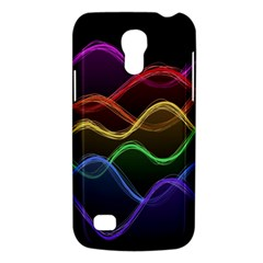 Twizzling Brain Waves Neon Wave Rainbow Color Pink Red Yellow Green Purple Blue Black Galaxy S4 Mini