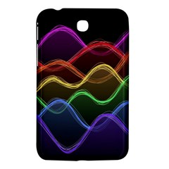 Twizzling Brain Waves Neon Wave Rainbow Color Pink Red Yellow Green Purple Blue Black Samsung Galaxy Tab 3 (7 ) P3200 Hardshell Case