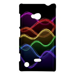 Twizzling Brain Waves Neon Wave Rainbow Color Pink Red Yellow Green Purple Blue Black Nokia Lumia 720