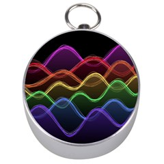 Twizzling Brain Waves Neon Wave Rainbow Color Pink Red Yellow Green Purple Blue Black Silver Compasses