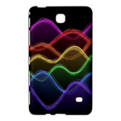 Twizzling Brain Waves Neon Wave Rainbow Color Pink Red Yellow Green Purple Blue Black Samsung Galaxy Tab 4 (7 ) Hardshell Case