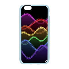 Twizzling Brain Waves Neon Wave Rainbow Color Pink Red Yellow Green Purple Blue Black Apple Seamless iPhone 6/6S Case (Color)