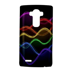 Twizzling Brain Waves Neon Wave Rainbow Color Pink Red Yellow Green Purple Blue Black LG G4 Hardshell Case