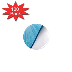 Water Bubble Waves Blue Wave 1  Mini Magnets (100 pack)