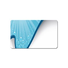 Water Bubble Waves Blue Wave Magnet (Name Card)