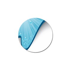 Water Bubble Waves Blue Wave Golf Ball Marker (10 Pack)