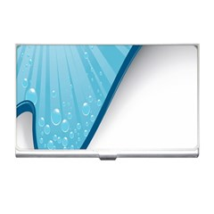 Water Bubble Waves Blue Wave Business Card Holders