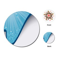 Water Bubble Waves Blue Wave Playing Cards (Round)