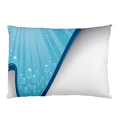 Water Bubble Waves Blue Wave Pillow Case