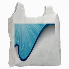 Water Bubble Waves Blue Wave Recycle Bag (Two Side)