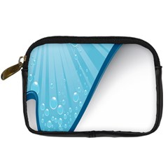 Water Bubble Waves Blue Wave Digital Camera Cases