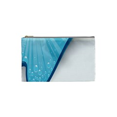 Water Bubble Waves Blue Wave Cosmetic Bag (Small)