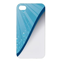 Water Bubble Waves Blue Wave Apple iPhone 4/4S Premium Hardshell Case