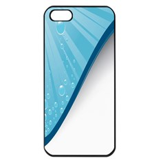 Water Bubble Waves Blue Wave Apple Iphone 5 Seamless Case (black)