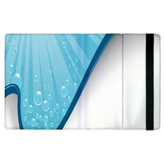 Water Bubble Waves Blue Wave Apple iPad 3/4 Flip Case