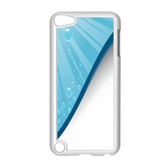 Water Bubble Waves Blue Wave Apple iPod Touch 5 Case (White)
