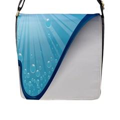 Water Bubble Waves Blue Wave Flap Messenger Bag (l)