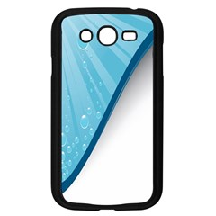 Water Bubble Waves Blue Wave Samsung Galaxy Grand DUOS I9082 Case (Black)