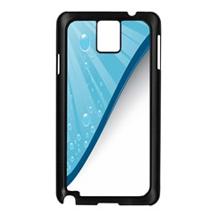 Water Bubble Waves Blue Wave Samsung Galaxy Note 3 N9005 Case (Black)