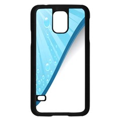 Water Bubble Waves Blue Wave Samsung Galaxy S5 Case (Black)
