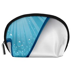 Water Bubble Waves Blue Wave Accessory Pouches (Large)