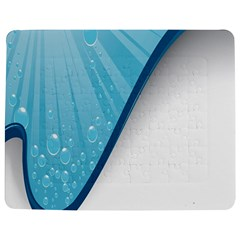 Water Bubble Waves Blue Wave Jigsaw Puzzle Photo Stand (Rectangular)