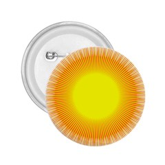 Sunlight Sun Orange Yellow Light 2 25  Buttons
