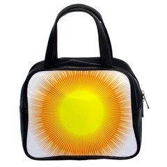 Sunlight Sun Orange Yellow Light Classic Handbags (2 Sides)