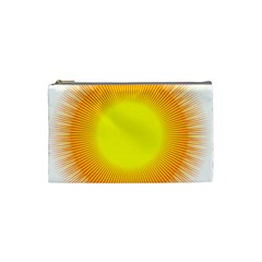 Sunlight Sun Orange Yellow Light Cosmetic Bag (Small)