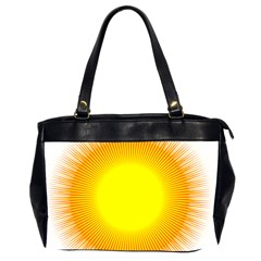 Sunlight Sun Orange Yellow Light Office Handbags (2 Sides)