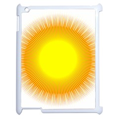 Sunlight Sun Orange Yellow Light Apple iPad 2 Case (White)
