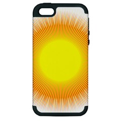 Sunlight Sun Orange Yellow Light Apple iPhone 5 Hardshell Case (PC+Silicone)