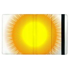 Sunlight Sun Orange Yellow Light Apple iPad 3/4 Flip Case