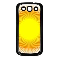 Sunlight Sun Orange Yellow Light Samsung Galaxy S3 Back Case (Black)